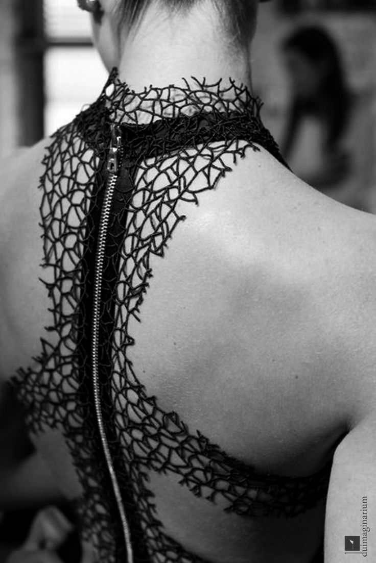 Excellent lace/web back piece for that special #Goth girl look at an evening event