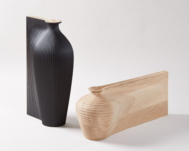 zaha hadid and gareth neal collaborate on fluid sculptural vessels