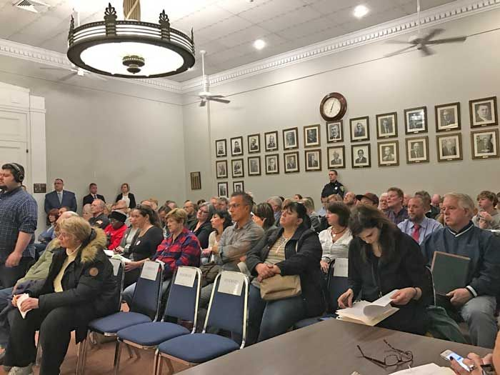 A number of residents packed the town hall meeting on Nov. 21 to complain about a proposed new development that would have a major impact on the Sunrise Highway corridor in Sayville.