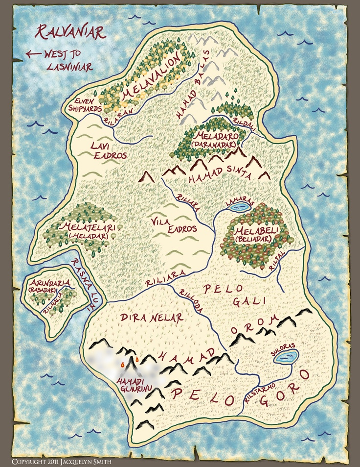 This is a map of the lost continent of Ralvaniar, featured in the novel Light Chasers.