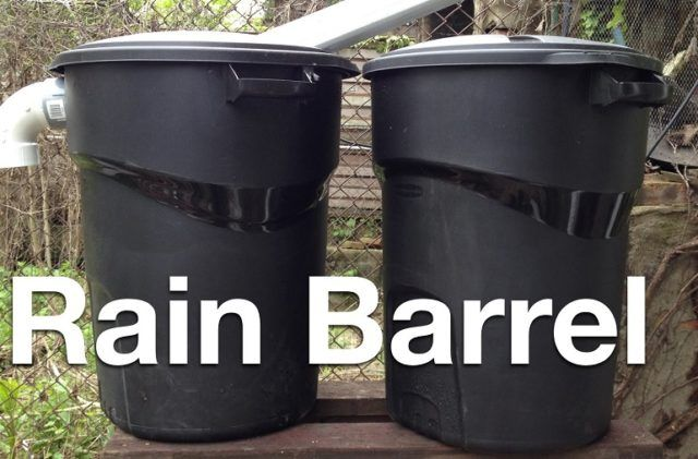 How To Make a Rain Barrel With a Trash Can