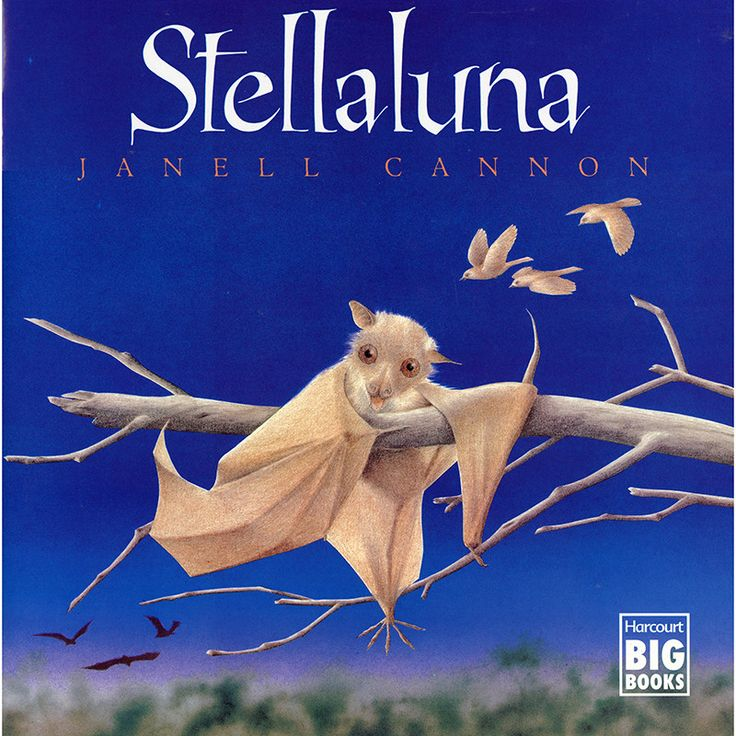 Knocked from her mother's safe embrace by an attacking owl, Stellaluna lands headfirst in a bird's nest. This adorable baby fruit bat's world is literally turned upside down when she is adopted by the