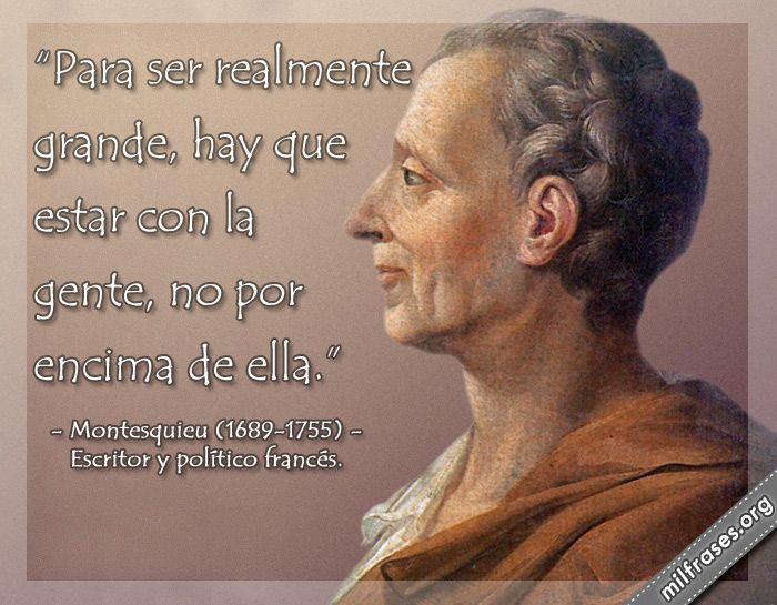 Montesquieu, escritor y político francés.