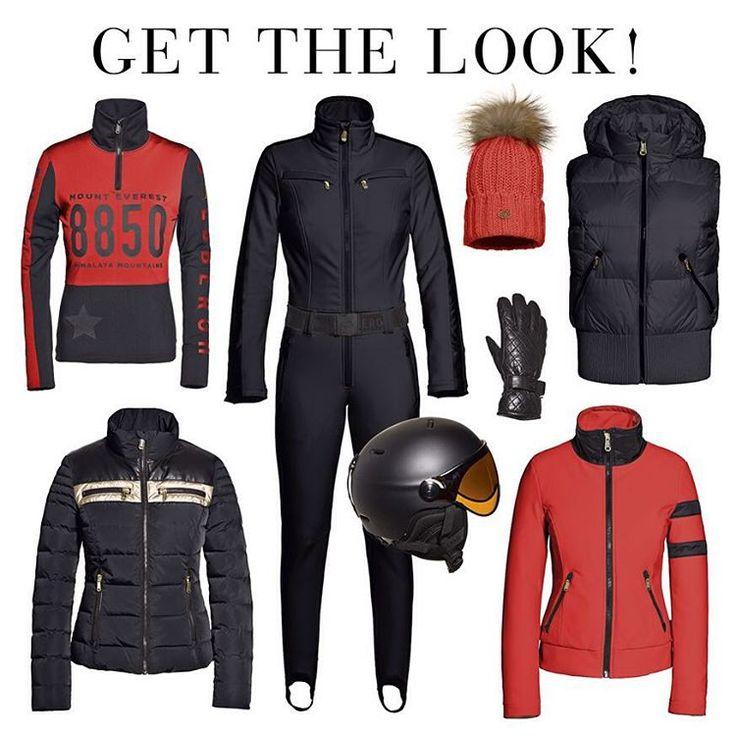 goldberghGET THE LOOK! #goldbergh #gold #red #helmet #wintersport #winter #ski #catsuit #black #bondgirl #snow #snowhasfallen