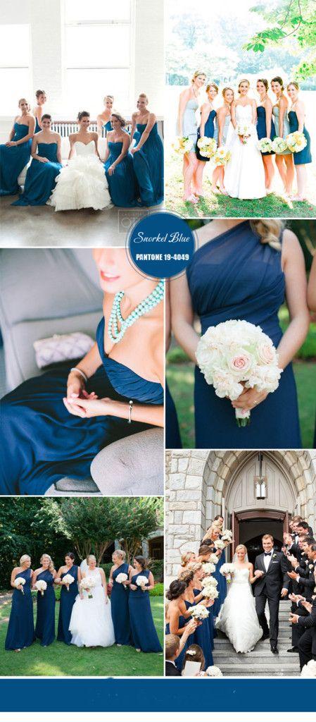 snorkel blue bridesmaid dresses 2016