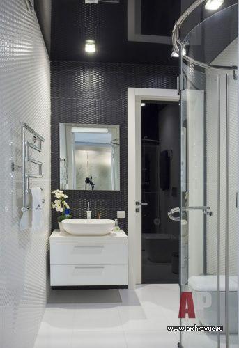 Дизайн интерьера квартиры в черно белом ар деко   #Apartment #interior #