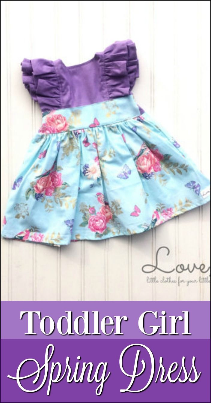 508e89908fb1 Floral handmade toddler spring dress - gorgeous and also easy for ...