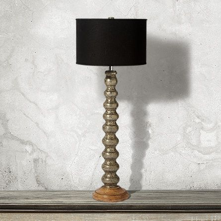 Malia Buffet Lamp With Black Shade In Silver Buffet Lamps Shades Of Black Table Lamp