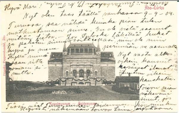 Postcard from 1904, Postikorttien Turku