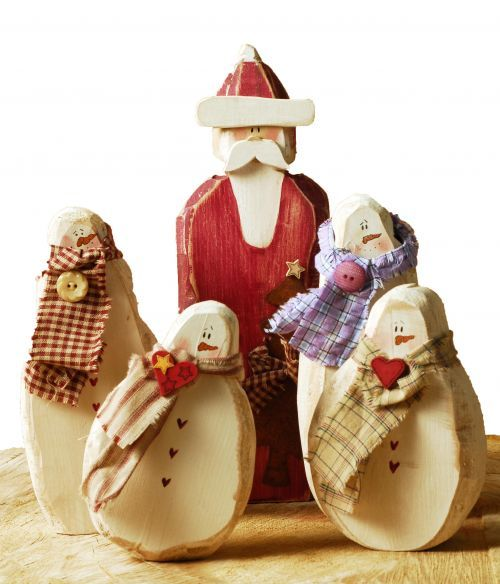 Handmade Wooden Santa Christmas Decoration | Rustic | Handpainted | Primitive |Scandinavian |Country