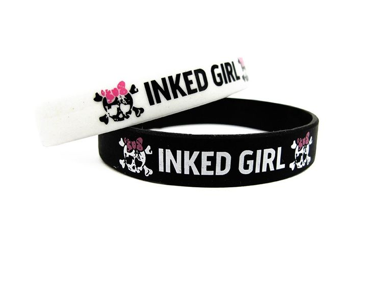 INKED GIRLS 1 rubber bracelett 2 for $2.95 @ Inkedshop.com