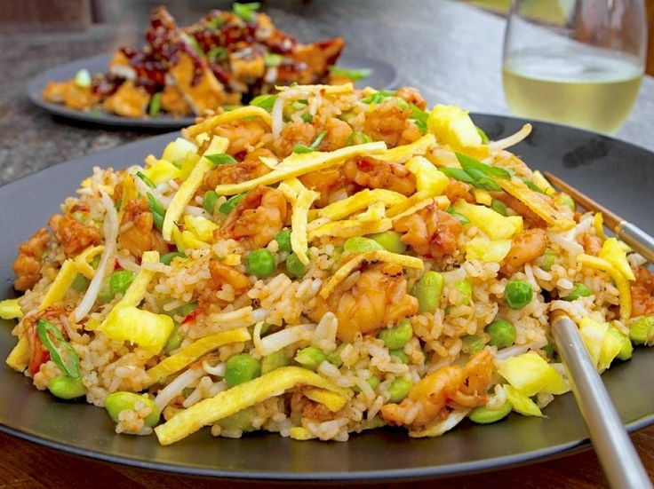 Spicy Shrimp and Pineapple Fried Rice Recipe : Guy Fieri : Food Network - FoodNetwork.com