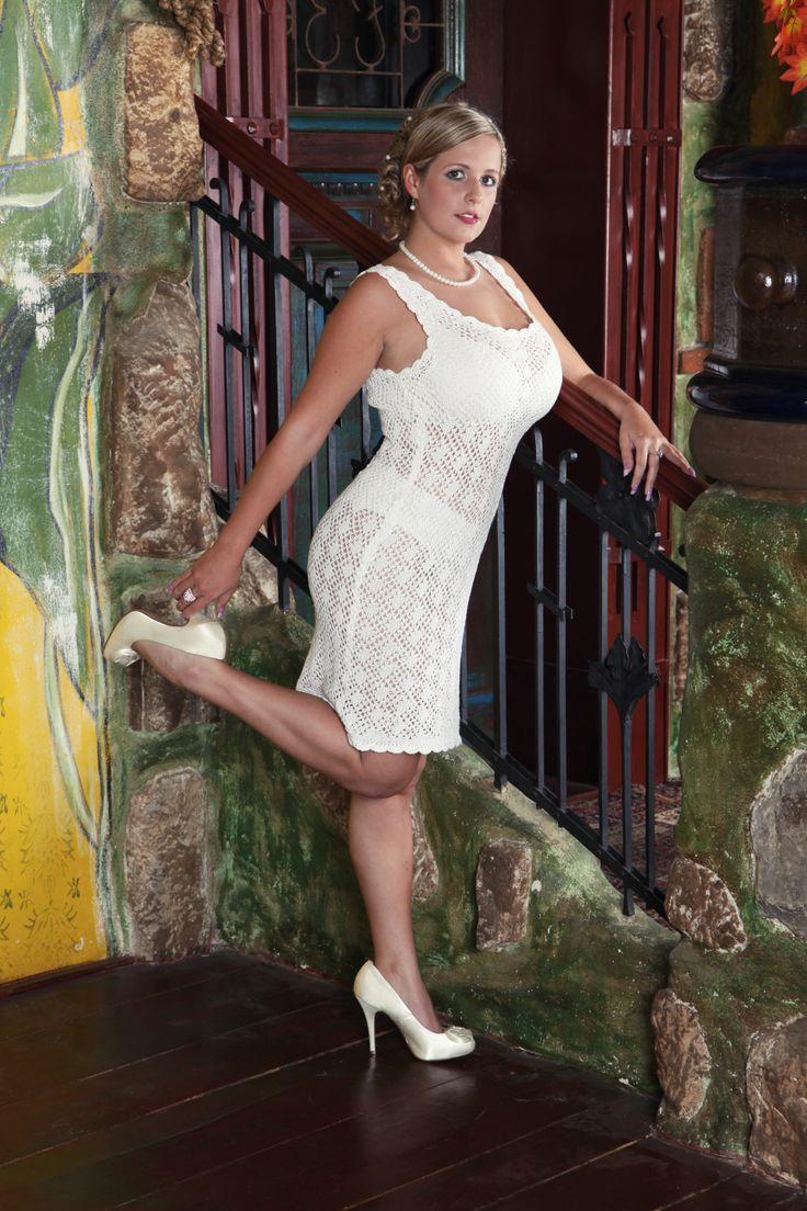 Little white dress #white #dress #knitted