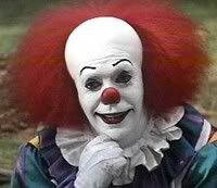 Pennywise the Clown: Whenever I look up Clown on the internet, Pennywise from Stephen King's IT pops up. He seems to be very popular. I, myself, have Coulrophobia, however