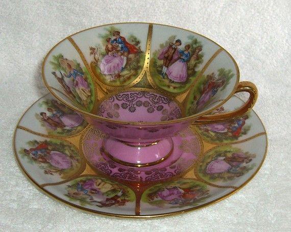 Vintage Handpainted Bavaria Tea Cup ~