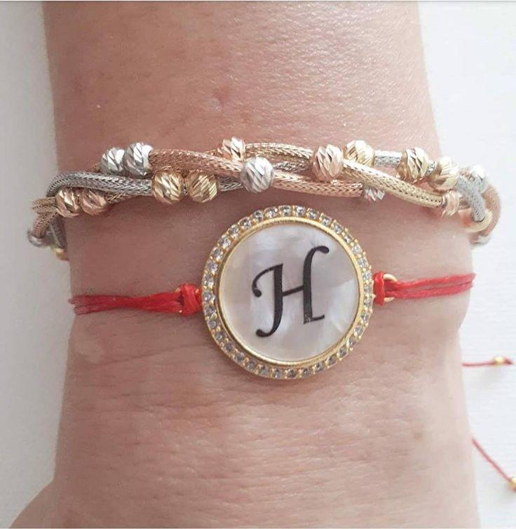 İnitial jewelry personalized bracelet letter bracelet
