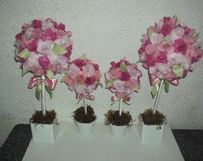 Topiária de rosas