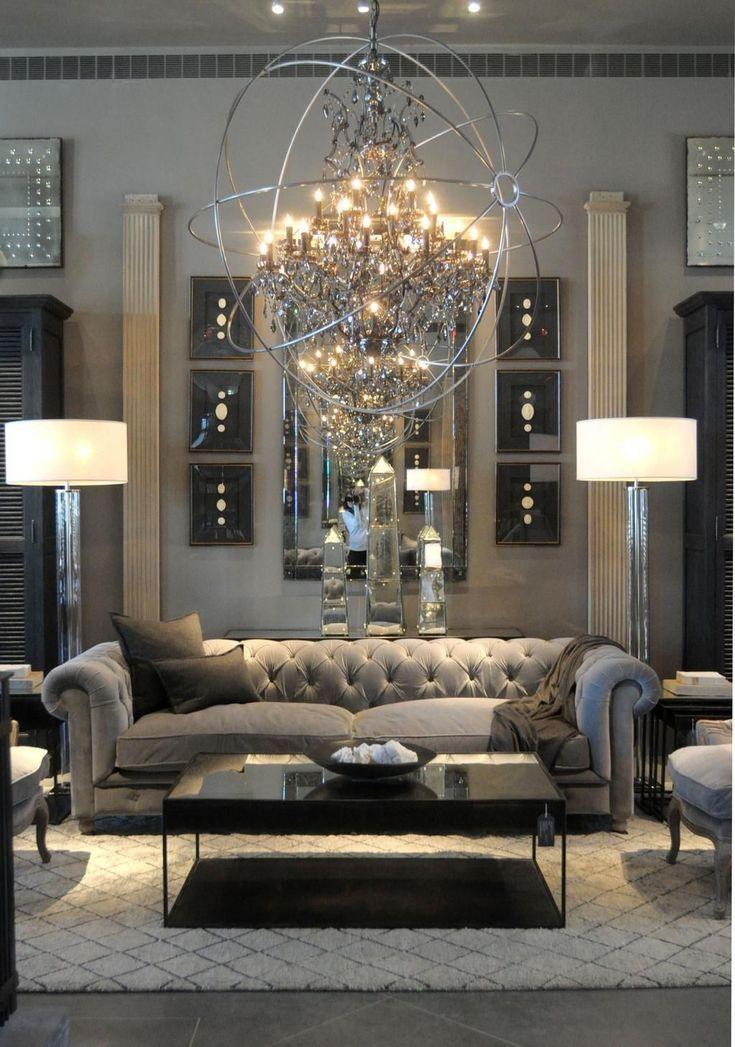 43 Modern Glam Living Room Decorating Ideas - #Decorating ...