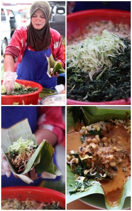 Pecel, variation of vegetable with thick and spicy peanut sauce