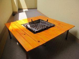 DIYで作る自作の囲炉裏テーブルの作り方(手作り キット ブログ 画像 まとめ バーベキューコンロ - NAVER まとめ