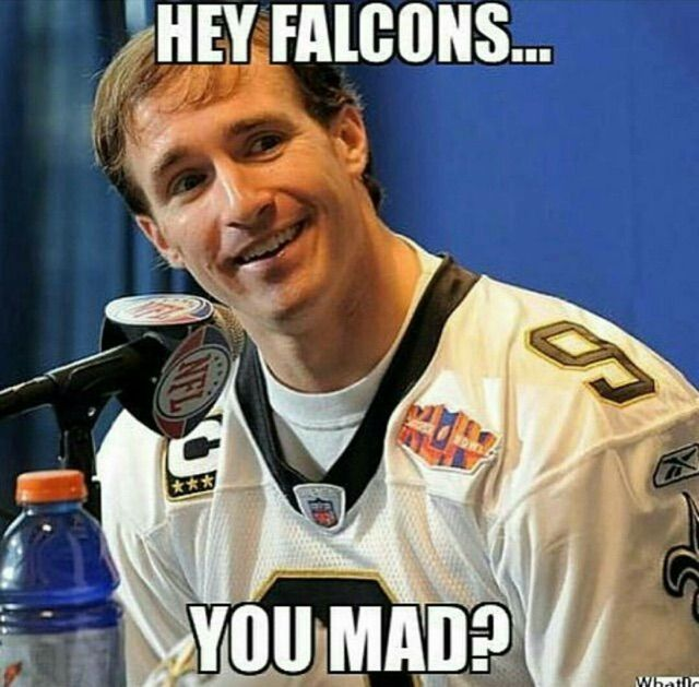 Atlanta Falcons Lose To New Orleans Saints Funny Memes Rolling Out New Orleans Saints New Orleans Saints Football Saints Vs
