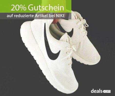 """Bei Nike erhaltet ihr einen 20% Gutschein auf reduzierte Artikel in der Kategorie """"Sonderangebote"""". Zum Gutscheincode & weiteren Nike Aktionen geht es hier: http://www.deals.com/nike #gutschein #gutscheincode #sparen #shoppen #onlineshopping #shopping #angebote #sale #rabatt #nike #sports #shoes #schuhe #sportschuhe"""