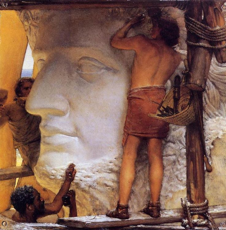 """Sculptors in Ancient Rome"",1877, Sir Lawrence Alma-Tadema."