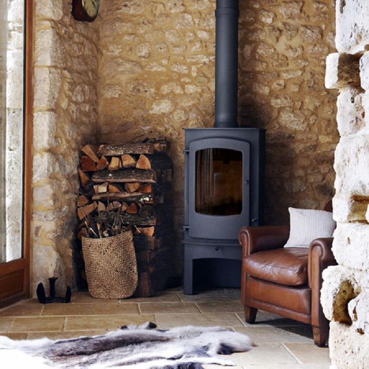 15 best images about wood stove on pinterest - Living room with wood burning stove ...