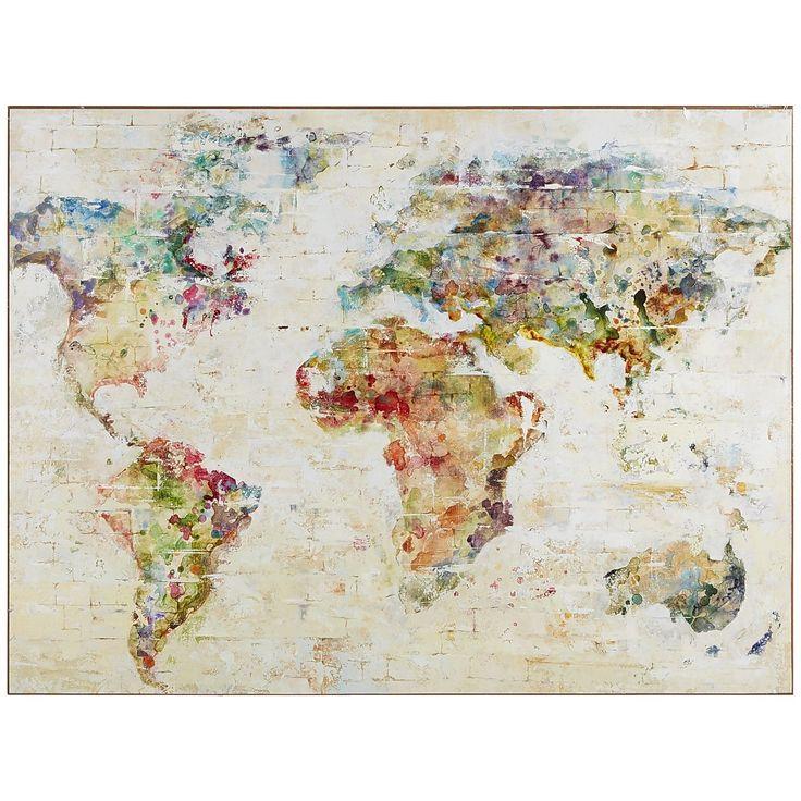 Best 25+ Map wall decor ideas on Pinterest   World map ...