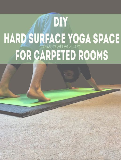 Pin it! This is genius! A DIY hard surface yoga space for carpeted rooms