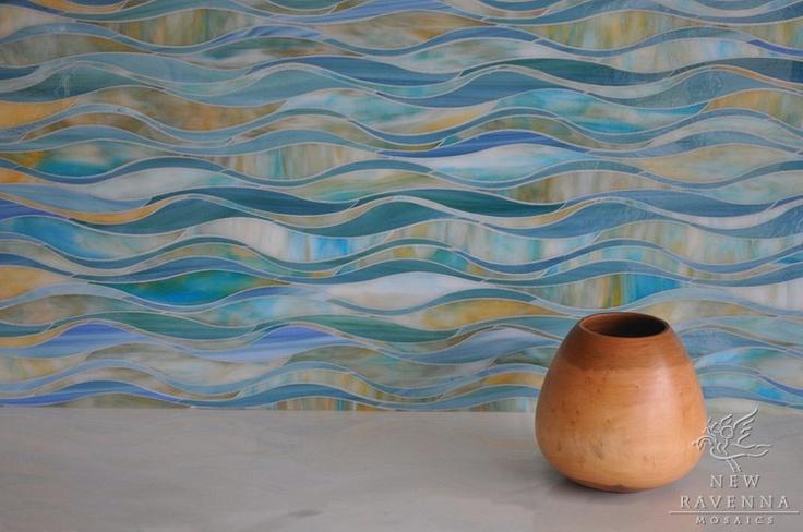 Ocean Waves Tile Art Pinterest Tile Mosaics And