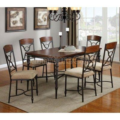 12085 series dining room set coaster fine furniture for Fine dining room sets
