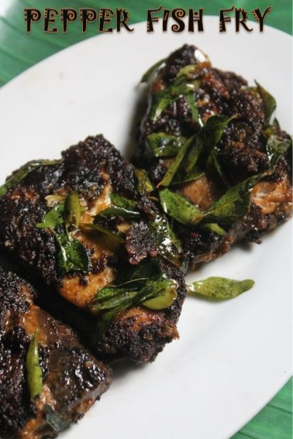 YUMMY TUMMY: Black Pepper Fish Fry Recipe - Milagu Kariveppilai Meen Varuval Recipe