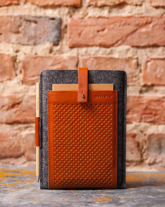 iPad mini case, sleeve, cover, leather case, retro case by OSTFOLD. Available on Etsy.