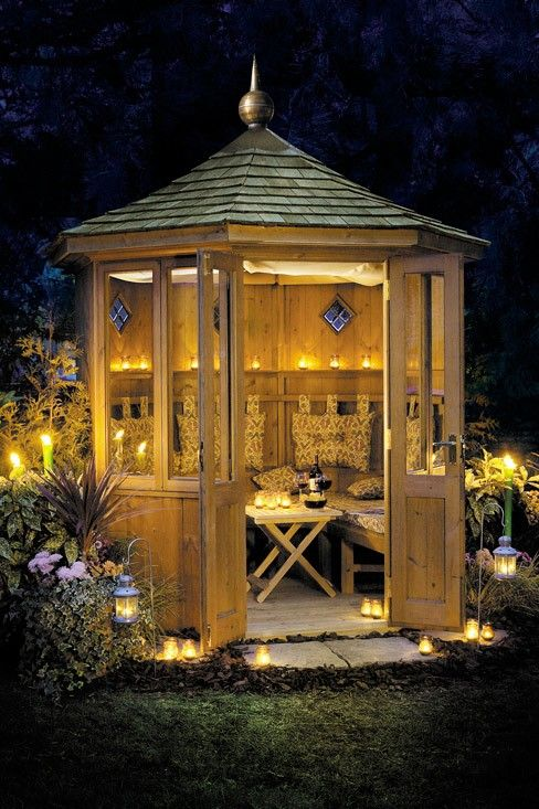 Gazebo.....there is nothing nicer than a warm evening spent in a gazebo drinking a fine wine with friends...........