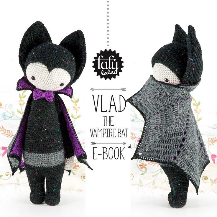 """lalylala crochet pattern """"VLAD the vampire bat"""""""
