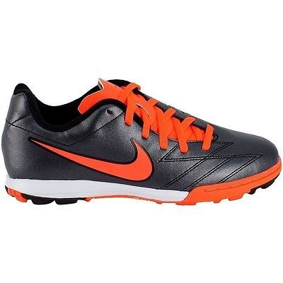 New Nike 472568 088 T90 Shoot IV Black / Red Kids Soccer Shoes Size 6 Y US