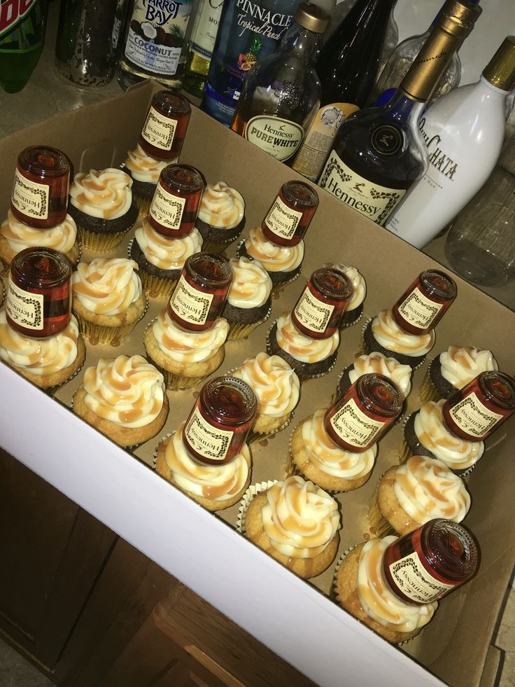 Hennessy Infused Cupcakes  https://www.facebook.com/Cups-and-Cakes-729388527186725/