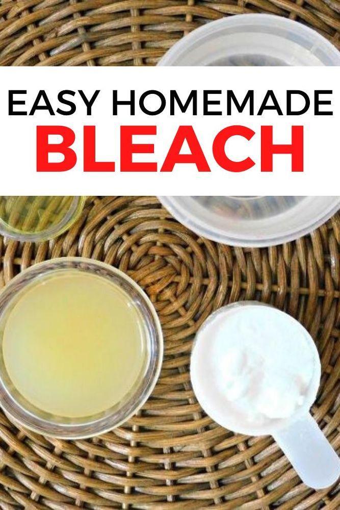 Homemade Bleach Recipe in 2020 Homemade bleach, Cleaner