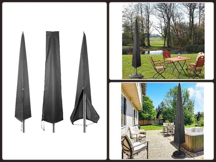 Patio Umbrella Cover Waterproof Market Parasol Covers W/ Zipper 4 7Ft To 11Ft  #umbrella  #cover #patio  #patiofurniture