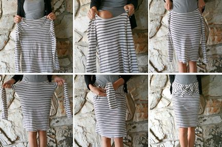Life is Beautiful: DIY: Second Skirts, Ideas, Fashion Skirts, Life Is Beautiful, Diy'S, Diy Fashion, Old Shirts, Bows Diy, 8 Seconds