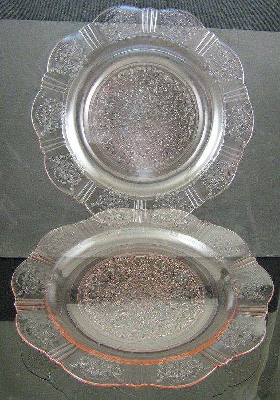 Vintage American Sweetheart Pink Dinner Plates 2 by greencreekfarm, $26.00