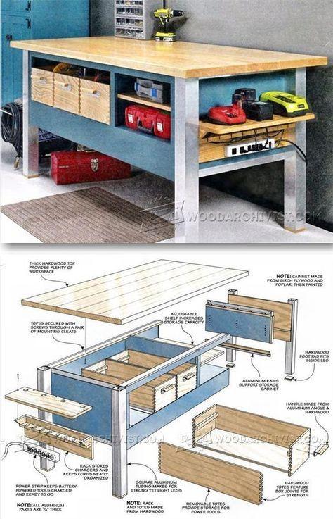 Power Tool Workbench Plans - Workshop Solutions Plans, Tips and Tricks   WoodArchivist.com