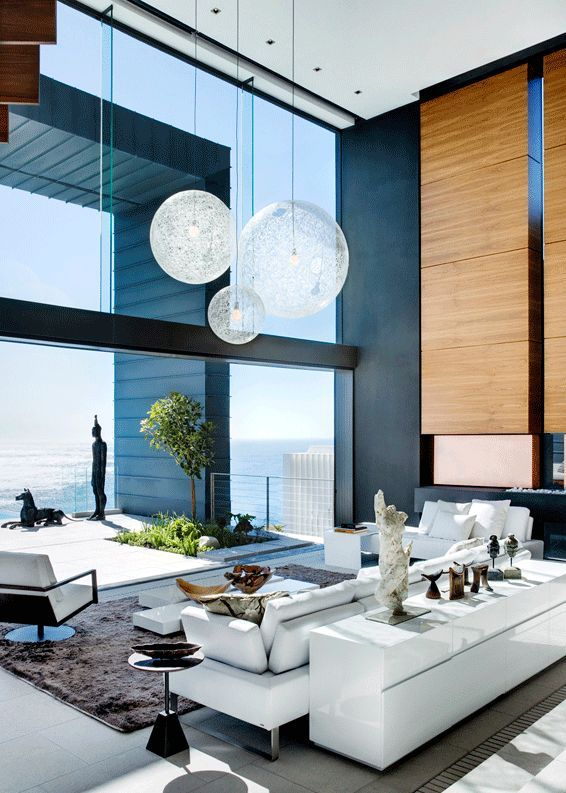 Sky high ceilings.