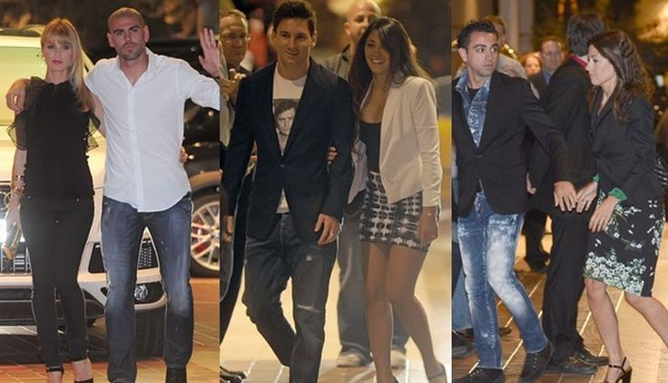 Jugadores celebran título del #Barcelona junto a sus parejas. Los jugadores del Barcelona celebraron el título de la Liga Española, junto a sus respectivas parejas, en una cena. (Internet)