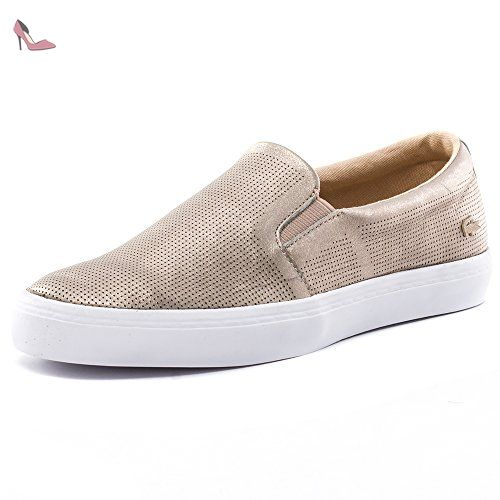 Lacoste Femmes Or Gazon Basket-UK 3 - Chaussures lacoste (*Partner-Link)