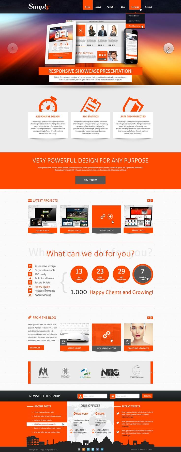 230 besten PSD Website Templates Bilder auf Pinterest ...