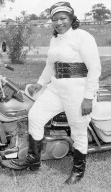 """Bessie Stringfield (1911–1993), nicknamed """"The Motorcycle Queen of Miami"""",was the first African-American woman to ride across the United States solo, and during World War II she served as one of the few motorcycle dispatch riders for the United States military. Stringfield was inducted into the Motorcycle Hall of Fame.; the award bestowed by the American Motorcyclist Association for 'Superior Achievement by a Female Motorcyclist' is named in her honor."""