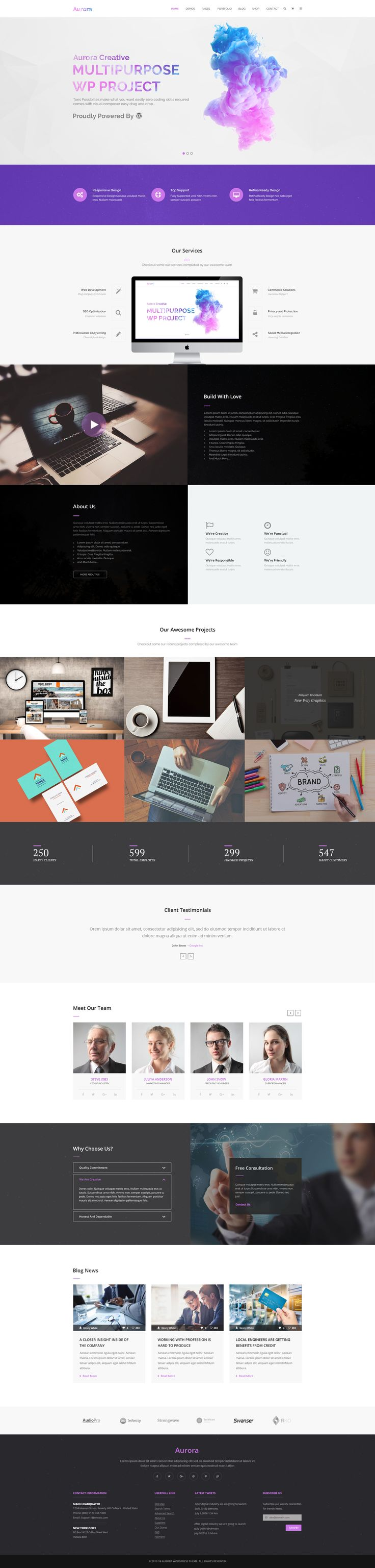 Aurora Creative Multipurpose PSD Template #business #clean #corporate • Download ➝ https://themeforest.net/item/aurora-creative-multipurpose-psd-template/20732496?ref=pxcr  - No site #ThemeForest encontra os melhores #Templates & #Plugins para #Wordpress. Confira em http://www.estrategiadigital.pt/themeforest-templates-wordpress/