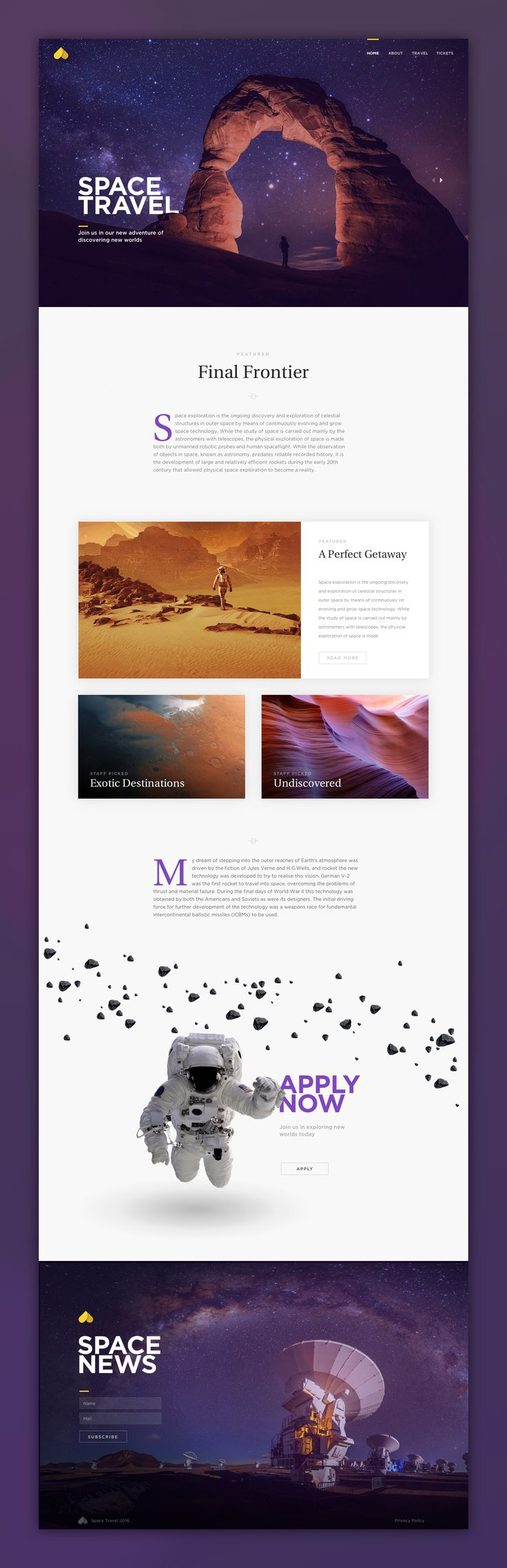 Beautiful! Photography with impact meets clean layout with excellent type.